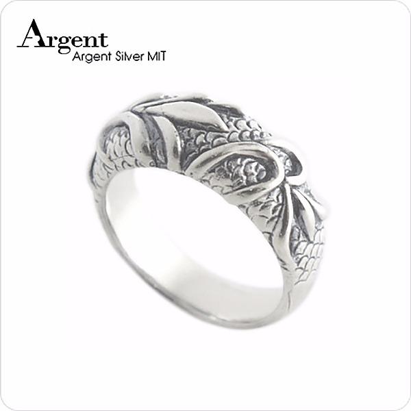 「藤」造型立體銀飾精雕純銀戒指|戒指推薦 戒指推薦