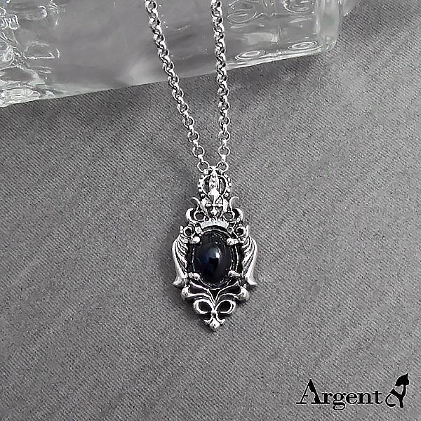 寶石項鍊「皇冠翼蝶」天然寶石純銀項鍊銀飾|銀項鍊推薦 銀項鍊推薦