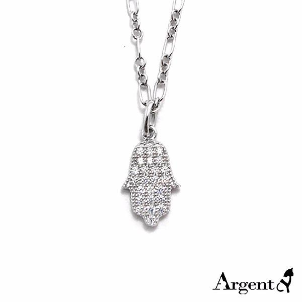 大「晶鑽佛手」造型純銀項鍊銀飾|銀項鍊推薦 銀項鍊推薦