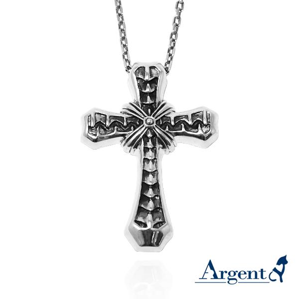 「交炙十字」十字架純銀項鍊|銀項鍊推薦 銀項鍊推薦
