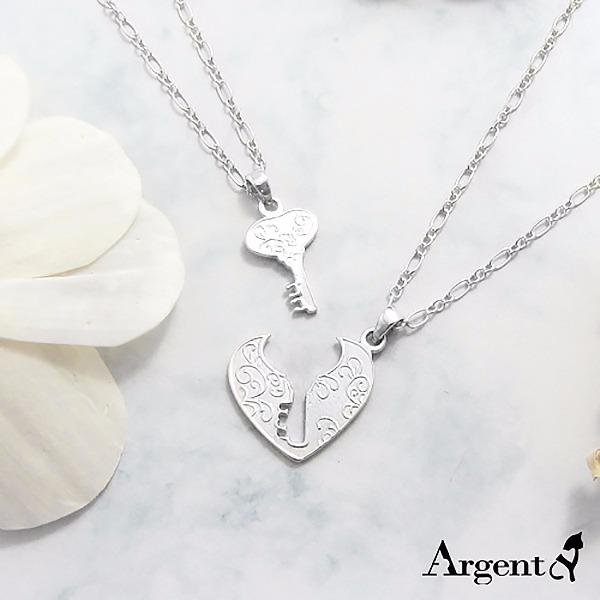 「戀鎖」(無染黑)愛心情人純銀對鍊銀飾|情侶對鍊推薦(一對價) 對鍊推薦