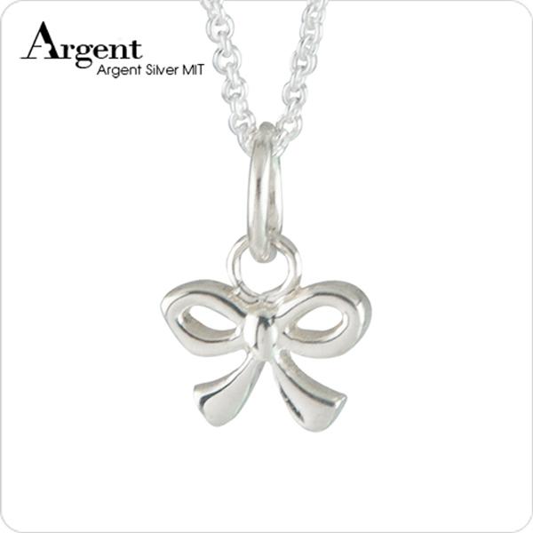 小蝴蝶結可愛造型純銀項鍊銀飾|銀項鍊推薦 銀項鍊推薦