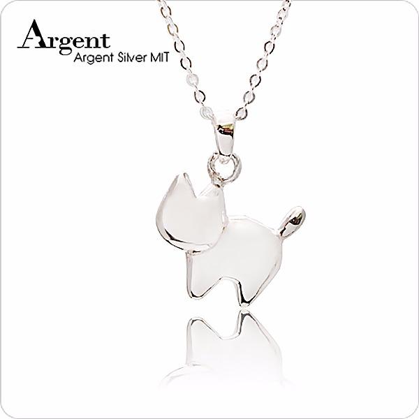 小萌貓造型素面簡約純銀項鍊銀飾 銀項鍊推薦 銀項鍊推薦