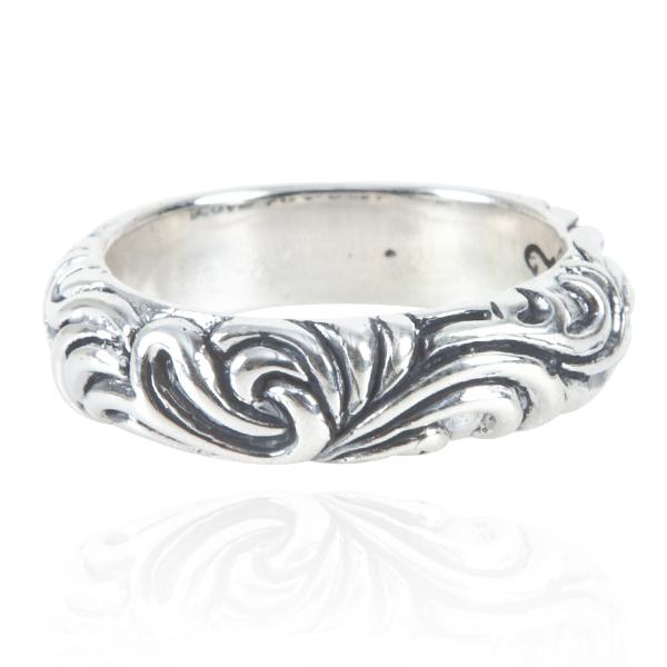 「雲紋(寬6mm/細4.5mm)」雕刻造型純銀戒指|戒指推薦(單只價) 戒指推薦