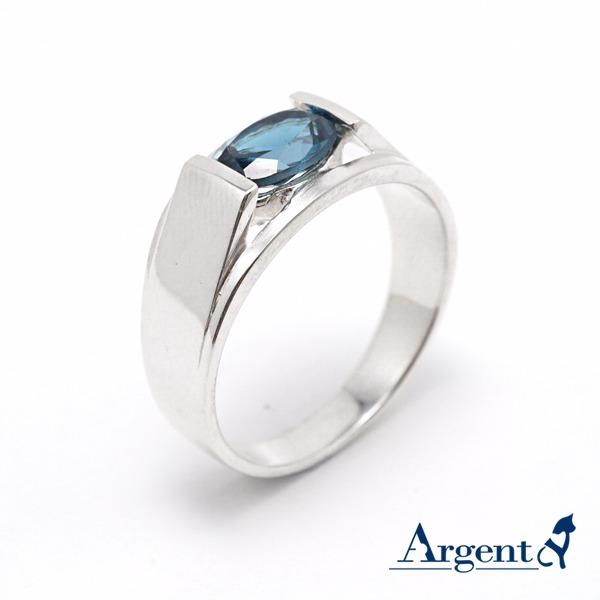 彩晶摯情天然寶石純銀戒指 戒指推薦 拓帕石