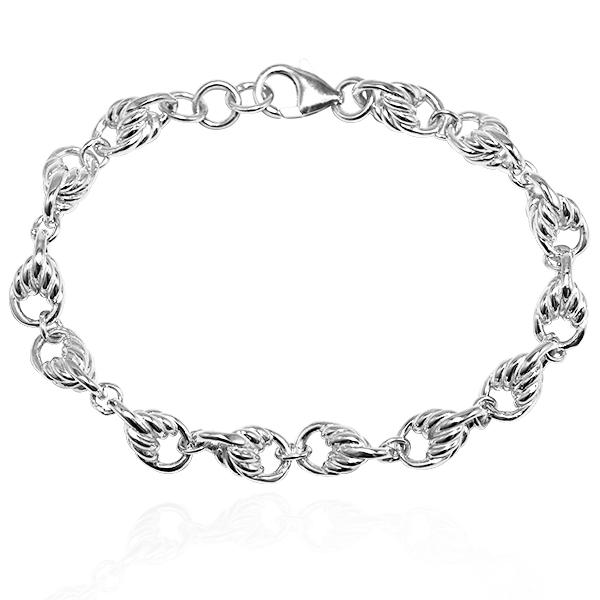 细款「麻花链」系列纯银手链|925银饰  纯银手链