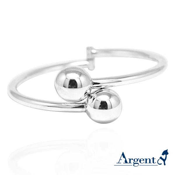 圓珠造型銀手鐲純銀手環|925銀飾 純銀手環
