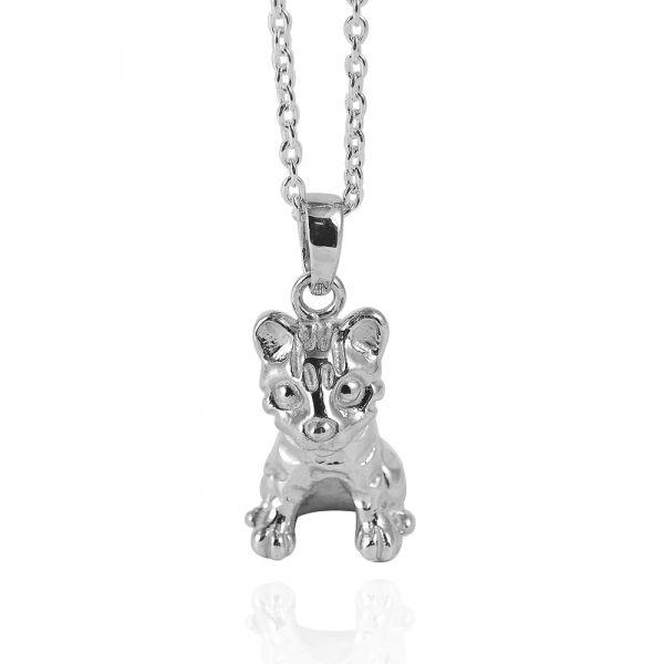石虎造型純銀項鍊-台灣保育類動物|銀飾推薦 保育動物
