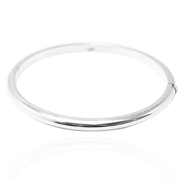 迷你弧形素面弥月婴儿手环|纯银手镯 纯银手环