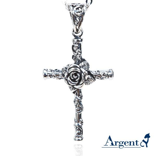 玫瑰十字造型純銀項鍊銀飾|銀項鍊推薦 銀項鍊推薦