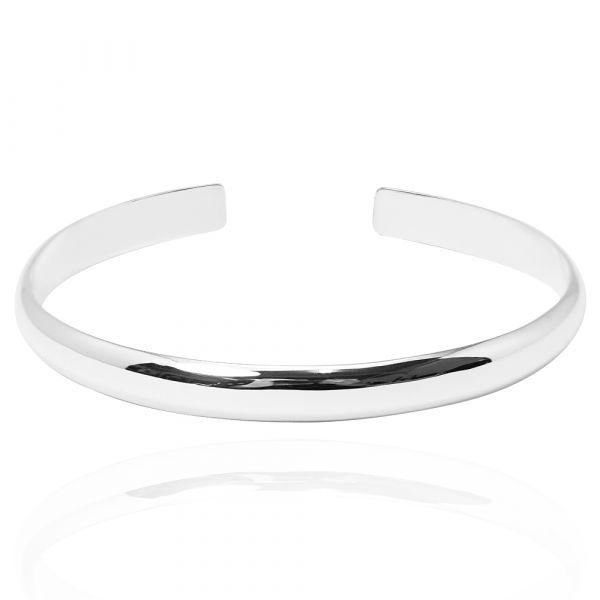 6mm「素雅(無刻字)」純銀手環|純銀手鐲 純銀手環