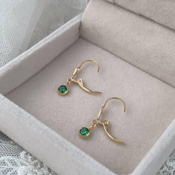 鳶花款復古綠耳環