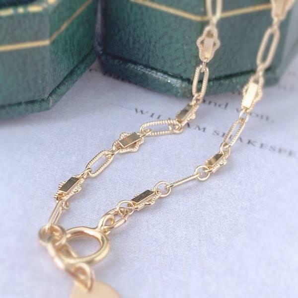 「閃閃金片」14KGF注金手鏈 石榴石,真珠,包金手鏈,14KGF 手鏈,注金 手鏈