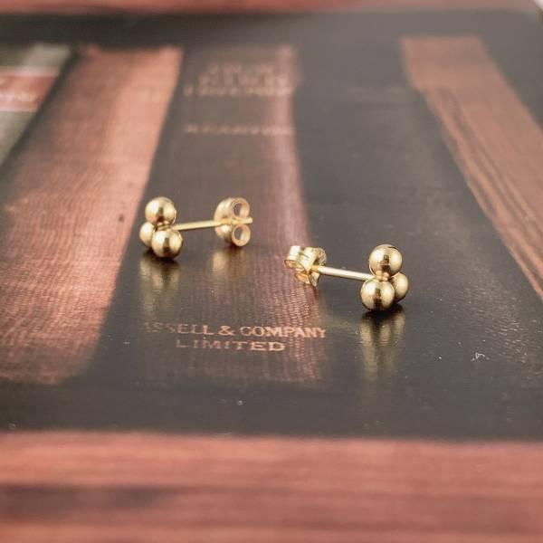 3珠立體 14K注金 耳針