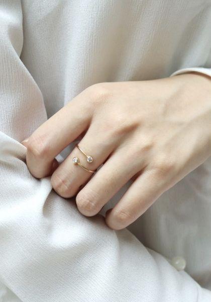 雙顆鋯石 開口 14K注金 戒指  14k,14kgf,14K項鏈,14K手鏈,14K耳環,14K戒指, 包金耳環,包金項鍊,包金戒指,包金手鏈,  注金耳環,注金項鍊,注金戒指,注金手鏈,  輕珠寶,項鏈,手鏈,戒指,耳環,耳夾,客製,  尖晶石,紅寶石,月光石,蛋白石,祖母綠,坦桑石,太陽石,珍珠 藍晶石,拉利瑪,四葉草,紅寶石,橄欖石,粉晶,天然鋯石,藍寶石,托帕石,月光石