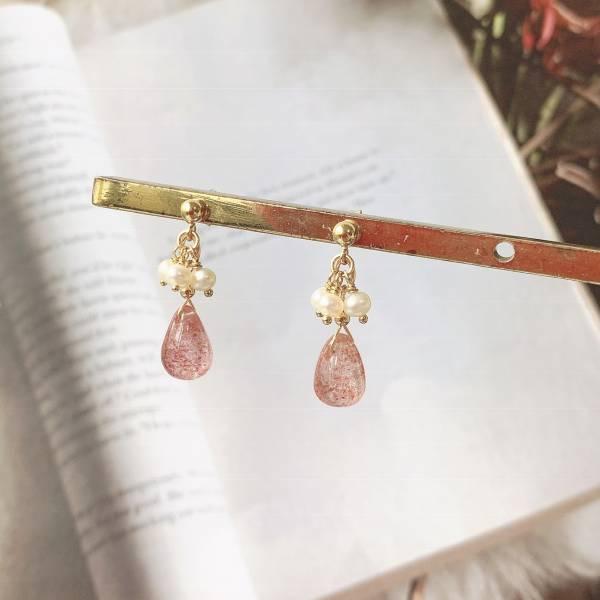 草莓香氣 草莓晶 耳環