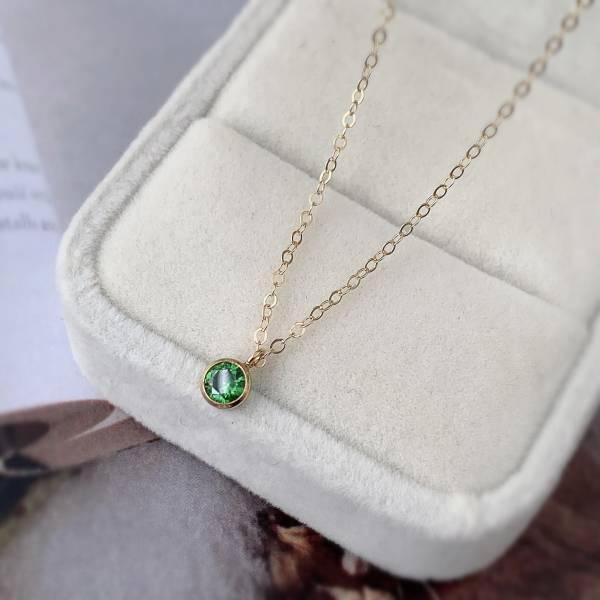 優雅綠鑽 細緻鎖骨鏈 素材體驗包 飾品材料包