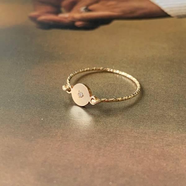 【金色光芒】14K 注金 極細手工線戒 包金戒指 ,注金戒指,14KGF戒指,結繩戒指,K金戒指