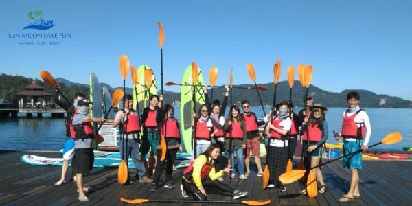 團體預訂(請先LINE聊聊) 水上活動團體預約,團體,預約,包船,日月潭包船,校外教學,員工旅遊,自力造筏,獨木舟,SUP