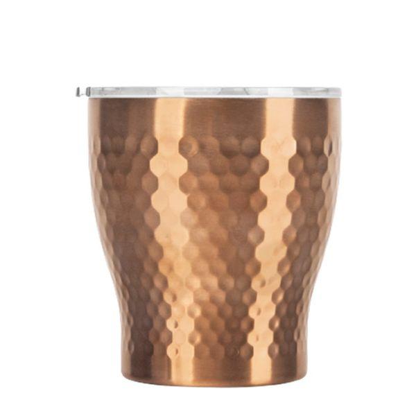 Tiamo 真空錘紋陶瓷杯 230ml 玫瑰金 保溫杯,保溫瓶,隨手杯,隨行杯,雙層保溫杯,雙層不鏽鋼真空保溫杯