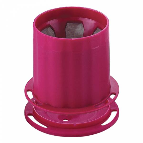 Tiamo UFO-180 不鏽鋼 滴漏濾杯 濾網 1-2人份 (桃紅) 不鏽鋼滴漏濾器,不鏽鋼滴漏濾網,環保濾器
