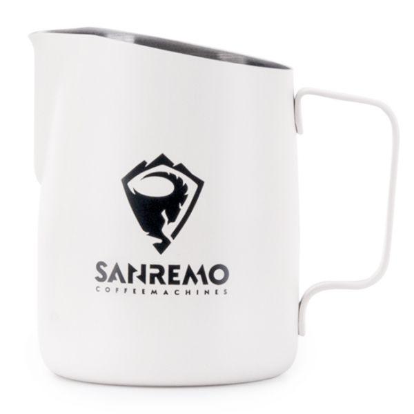Tiamo 斜口拉花杯650cc尖口設計 義大利SANREMO品牌合作款 斜口拉花杯,450cc拉花杯,尖口設計拉花杯,SANREMO拉花杯,義大利SANREMO拉花杯,SANREMO品牌合作款拉花杯
