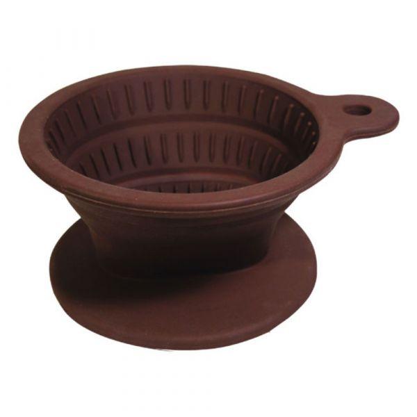 Tiamo 矽膠摺疊濾杯附濾紙40入附匙 梯形濾杯,梯型濾杯,手沖咖啡專用濾杯