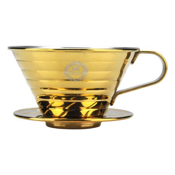 Tiamo K02不銹鋼器組 (鈦金) 1-4人份 附滴水盤 量匙 K形咖啡濾杯濾器,波浪型咖啡濾杯濾器,蛋糕型咖啡濾杯濾器