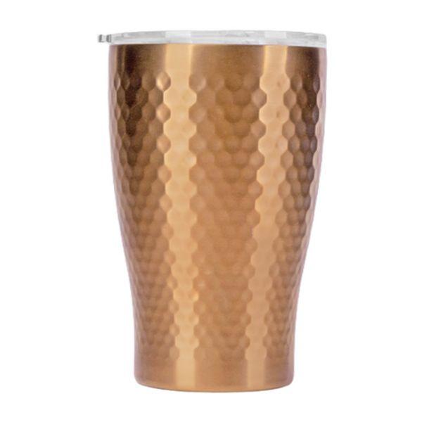 Tiamo 真空錘紋陶瓷杯 360ml 玫瑰金 保溫杯,保溫瓶,隨手杯,隨行杯,雙層保溫杯,雙層不鏽鋼真空保溫杯