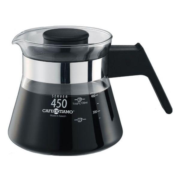 Tiamo 玻璃咖啡壺450cc 電木把手 通過SGS檢測 玻璃咖啡壺,玻璃茶壺,手柄玻璃壺,把手玻璃壺,耐熱玻璃壺,花茶沖泡壺