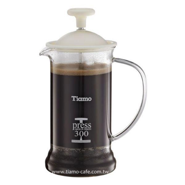 TIAMO 多功能法式玻璃濾壓壺 300cc SGS合格 法式濾壓壺,咖啡濾壓壺,居家濾壓壺