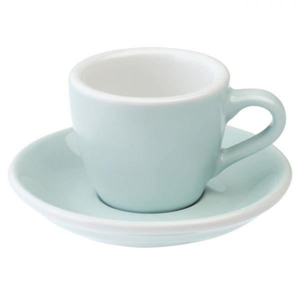 愛陶樂 Egg 80 咖啡杯盤組80cc天空藍色 31131064 LOVERAMICS,愛陶樂,馬克杯,咖啡杯,拿鐵杯,拿鐵專用杯,卡布杯,卡布奇諾專用杯,杯盤組