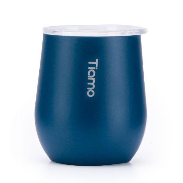 新品!Tiamo 真空陶瓷弧形杯 200ml 藍 保溫杯,保溫瓶,隨手杯,隨行杯,雙層保溫杯,雙層不鏽鋼真空保溫杯