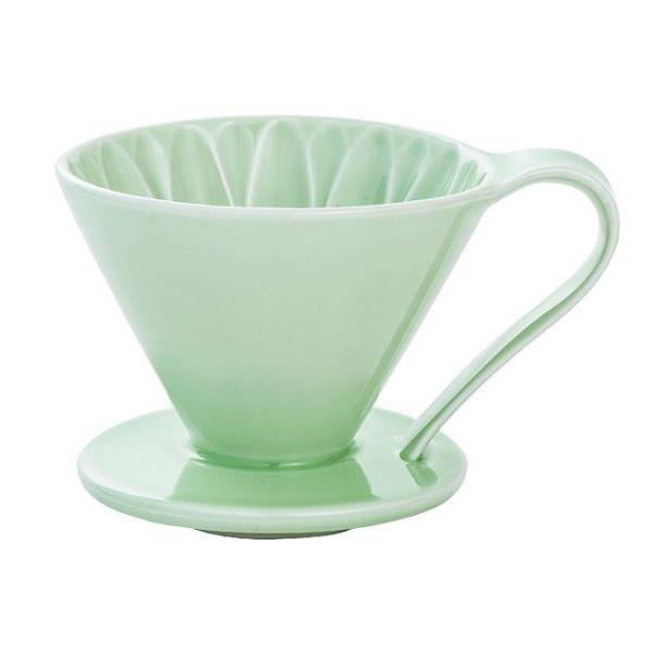 CAFEC CFD-4GR 陶瓷咖啡濾器 (大) (綠) 錐形濾杯,V型濾杯,手沖咖啡濾杯