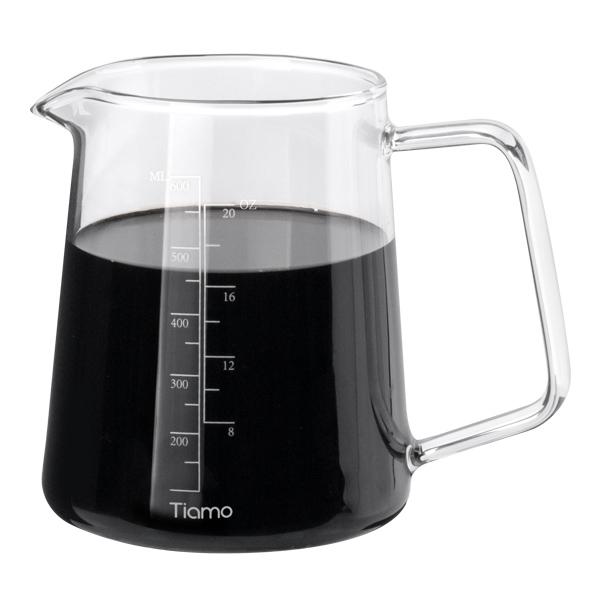 新品!Tiamo 耐熱玻璃咖啡下壺 600ml 耐熱玻璃壺,下壺,咖啡下壺,玻璃壺