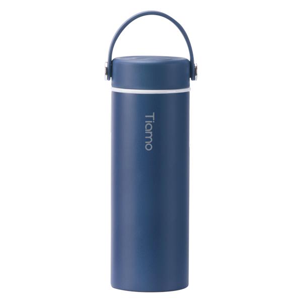 Tiamo 真瓷保溫隨身瓶-莫蘭迪藍 450ml SGS認證 保溫杯,保溫瓶,隨手杯,隨行杯,隨身杯,隨身瓶,陶瓷杯,陶瓷保溫杯,陶瓷保溫瓶,雙層不鏽鋼真空保溫杯