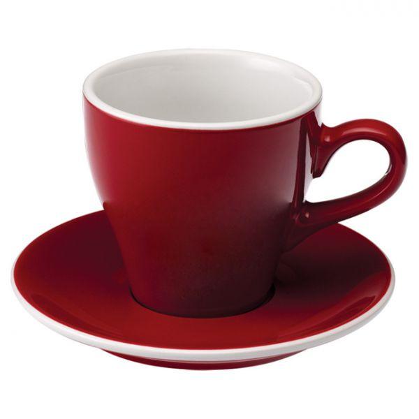 愛陶樂 Tulip 180 咖啡杯盤組180cc紅色 31131031 LOVERAMICS,愛陶樂,馬克杯,咖啡杯,拿鐵杯,拿鐵專用杯,卡布杯,卡布奇諾專用杯,杯盤組