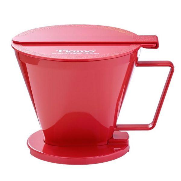 Tiamo Smart2Coffee濾杯(紅色) SGS合格 梯形濾杯,聰明濾杯,傻瓜濾杯