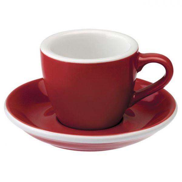 愛陶樂 Egg 80 咖啡杯盤組80cc紅色 31131060 LOVERAMICS,愛陶樂,馬克杯,咖啡杯,拿鐵杯,拿鐵專用杯,卡布杯,卡布奇諾專用杯,杯盤組