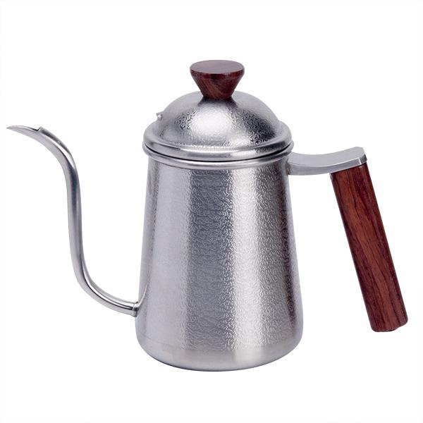 新品!Tiamo 花梨木方形把手細口壺 不鏽鋼 700ml 細口手沖咖啡壺,細口壺,手沖壺,細口手沖壺,天鵝嘴系口壺