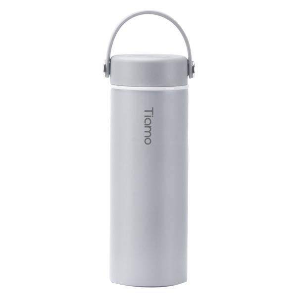 Tiamo 真瓷保溫隨身瓶-莫蘭迪灰 450ml SGS認證 保溫杯,保溫瓶,隨手杯,隨行杯,隨身杯,隨身瓶,陶瓷杯,陶瓷保溫杯,陶瓷保溫瓶,雙層不鏽鋼真空保溫杯