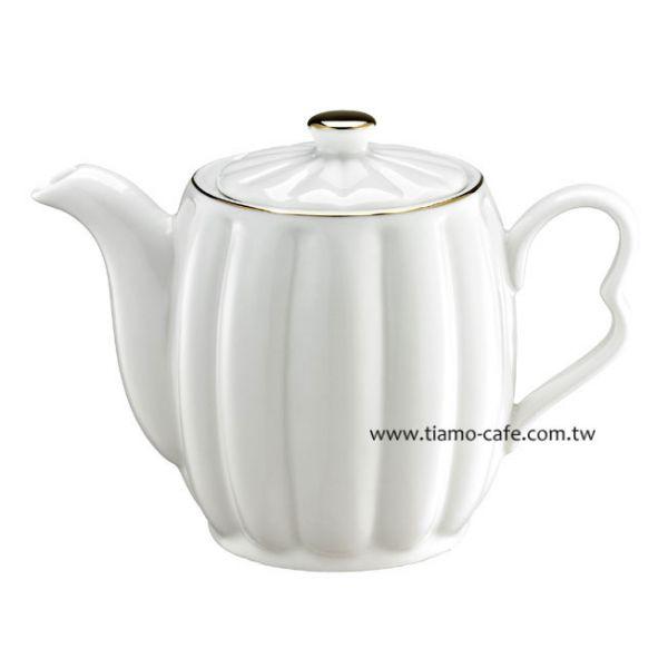 Tiamo 皇家描金咖啡壺 花茶壺 500cc 歐式花茶壺,法式花茶壺,皇家描金咖啡壺,陶瓷花茶壺,陶瓷咖啡壺