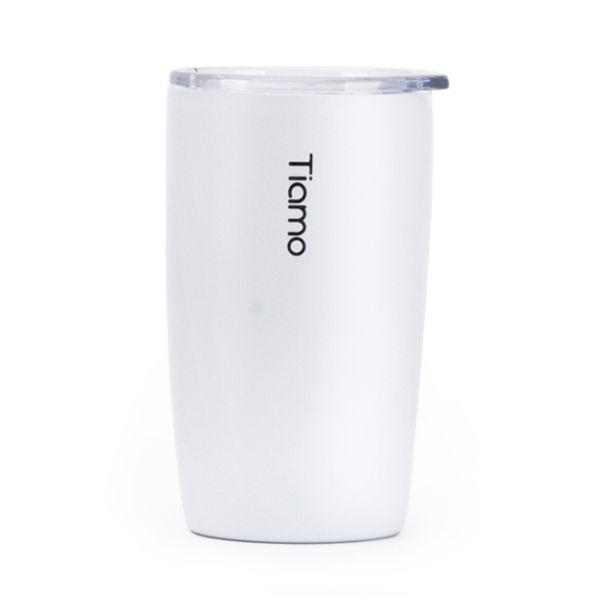 Tiamo 真空陶瓷隨手杯 250ml 白 保溫杯,保溫瓶,隨手杯,隨行杯,雙層保溫杯,雙層不鏽鋼真空保溫杯