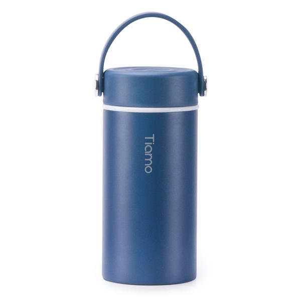 Tiamo 真瓷保溫隨身瓶-莫蘭迪藍 300ml SGS認證 保溫杯,保溫瓶,隨手杯,隨行杯,隨身杯,隨身瓶,陶瓷杯,陶瓷保溫杯,陶瓷保溫瓶,雙層不鏽鋼真空保溫杯