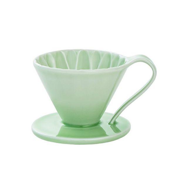 CAFEC CFD-1GR 陶瓷咖啡濾器 (小) (綠) 錐形濾杯,V型濾杯,手沖咖啡濾杯