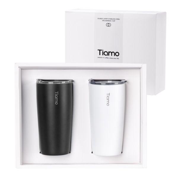 Tiamo 對杯禮盒-真空陶瓷保溫隨手杯 360ml 保溫杯,保溫瓶,隨手杯,隨行杯,雙層保溫杯,雙層不鏽鋼真空保溫杯
