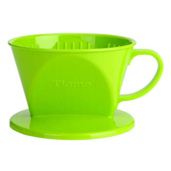 Tiamo 101 AS咖啡濾器 1-2杯份 綠色 梯形濾杯,梯型濾杯,手沖咖啡專用濾杯