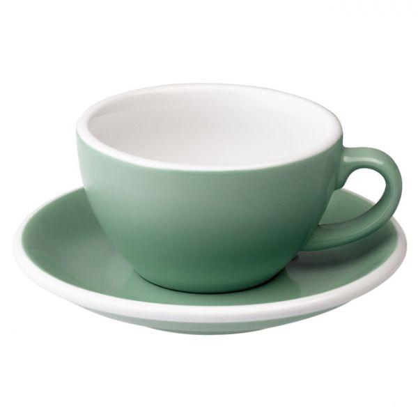 愛陶樂 Egg 150 咖啡杯盤組150cc藍綠色 31131137 LOVERAMICS,愛陶樂,馬克杯,咖啡杯,拿鐵杯,拿鐵專用杯,卡布杯,卡布奇諾專用杯,杯盤組