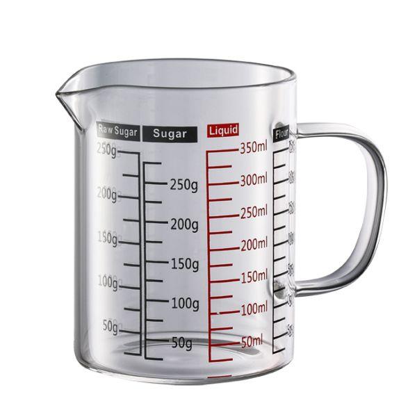 玻璃有柄量杯 350ml 玻璃量杯,液體量杯,耐熱液體玻璃量杯,測量工具,度量用具,測量量杯,刻度量杯,量杯器皿