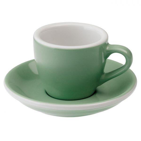 愛陶樂 Egg 80 咖啡杯盤組80cc藍綠色 31131063 LOVERAMICS,愛陶樂,馬克杯,咖啡杯,拿鐵杯,拿鐵專用杯,卡布杯,卡布奇諾專用杯,杯盤組